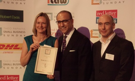 Alison and Peter Brodie with Theo Paphitis
