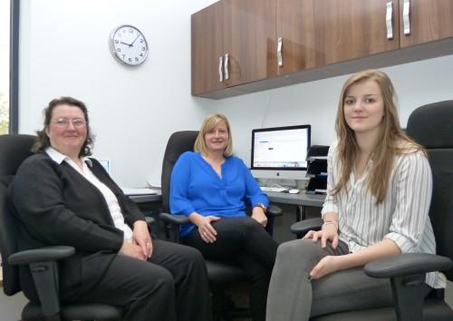 Craven Safety Services: Debbie Gomersall, Liz Preston and Mollie Guest.
